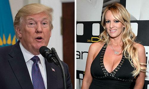 Tổng thống Mỹ Trump và sao khiêu dâm Daniels. Ảnh: The Hill.