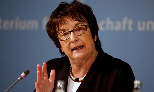 Bà Zypries, Bộ trưởng kinh tế Đức. Ảnh: Reuters.