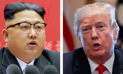 Nhà lãnh đạo Triều Tiên Kim Jong-un (trái) và Tổng thống Mỹ Donald Trump (phải). Ảnh: WSJ.