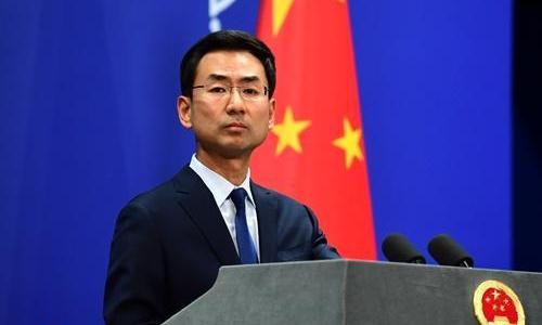 Người phát ngôn Bộ Ngoại giao Trung Quốc Cảnh Sảng ngày 6/3. Ảnh: Peoples Daily.