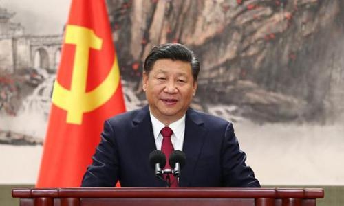 Chủ tịch Trung Quốc Tập Cận Bình trong phiên họp quốc hội khóa 13 ở Bắc Kinh. Ảnh: Cqbc.