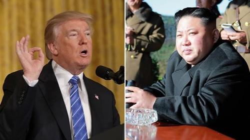 Tổng thống Mỹ Donald Trump và nhà lãnh đạo Triều Tiên Kim Jong-un. Ảnh: Hill.