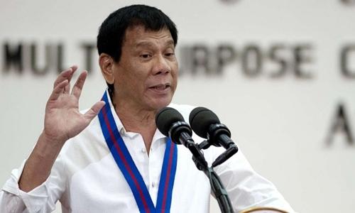 Tổng thống Philippines Rodrigo Duterte. Ảnh: AFP.