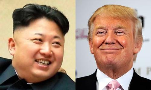 Lãnh đạo Triều Tiên Kim Jong-un và Tổng thống Mỹ Donald Trump. Ảnh: