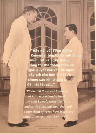 Đại sứHenry Cabot Lodge (trái) và ông Ngô Đình Diệm.