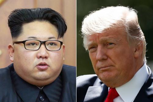 Nhà lãnh đạo Triều Tiên Kim Jong-un (trái) và Tổng thống Mỹ Trump. Ảnh: KCNA/Reutes.