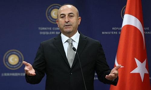 Ngoại trưởng Thổ Nhĩ KỳMevlut Cavusoglu. Ảnh: AFP.