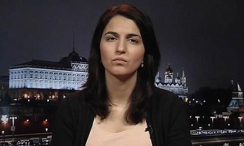 Phóng viên Farida Rustamova làm việc cho kênh truyền hình BBC công khai tố cáonghị sĩ Slutsky quấy rối tình dục cô. Ảnh: BBC.