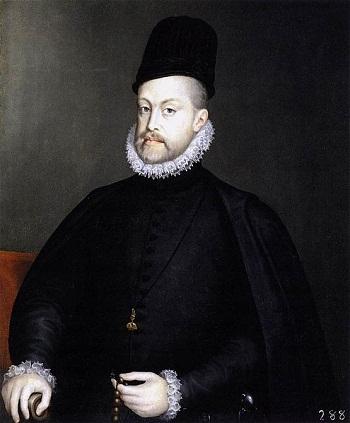 Vua Felipe II của Tây Ban Nha là nguồn gốc tên gọi nước Philippines. Ảnh: Pinterest