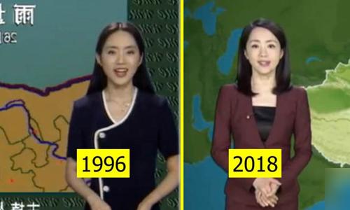 Diện mạo nữ MC gần như không đổi qua hơn 20 năm. Ảnh: Bored Panda.