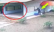Tên trộm ê chề khi đột nhập vào gara qua cửa sổ
