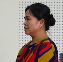 Moong Thị Hà tại tòa.