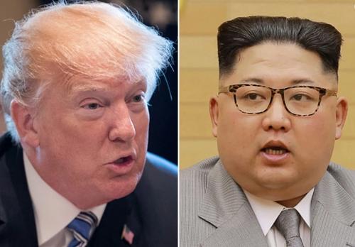 Tổng thống Mỹ Donald Trump và nhà lãnh đạo Triều Tiên Kim Jong-un. Ảnh: