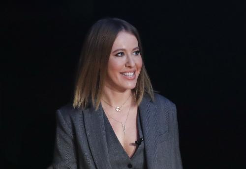 Ksenia Sobchak,ứng viên của đảng Sáng kiến Dân sự. Ảnh: AFP.