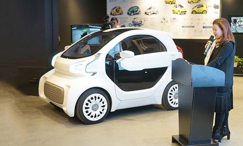 Xe LSEV được trưng bày tại một bảo tàng ở Thượng Hải. Ảnh: China Daily.