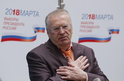 Vladimir Zhirinovsky, ứng viênđảng Dân chủ Tự do. Ảnh: Reuters.