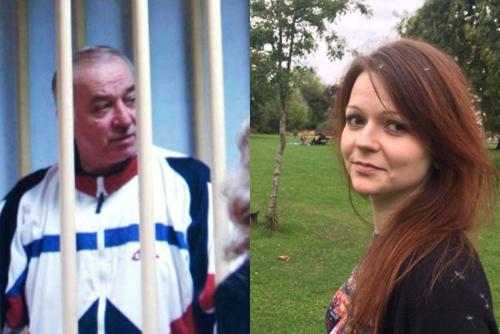 Skripal (trái) và con gái đang nguy kịch sau vụ tấn công. Ảnh: ABC.