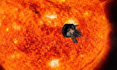 Tàu vũ trụParker Solar Probe sẽ tiếp cận Mặt Trời để thu thập dữ liệu. Ảnh: NASA.
