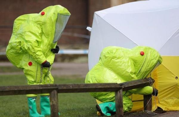Hiện trường vụ đầu độc cha con Skripal ở Salisbury, Anh. Ảnh: Reuters.