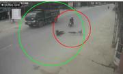 Bất trắc trên đường Việt: Xe máy, ôtô gặp cụ già lao xe đạp qua đường