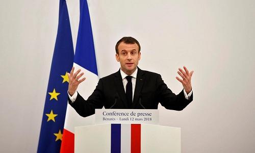 Tổng thống Pháp Emmanuel Macron. Ảnh: Reuters.
