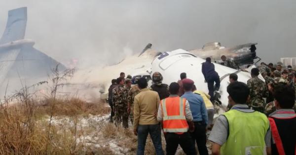 Hiện trường máy bay rơi. Ảnh: NepaliTimes.