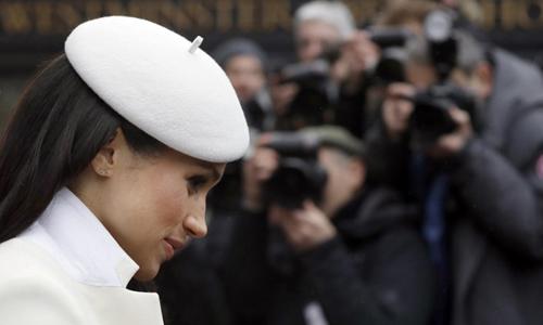Hôn thê Hoàng tử Harry cô Meghan Markle. Ảnh: AFP.