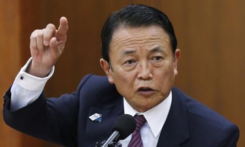 Bộ trưởng Tài chính Nhật Taro Aso. Ảnh: Reuters.