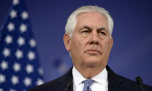 Ngoại trưởng Mỹ Rex Tillerson. Ảnh: Reuters.