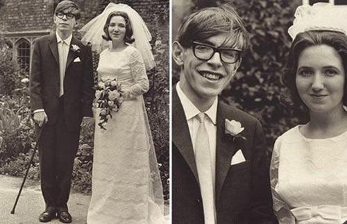 Stephen Hawking cùng người vợ đầu tiên,Jane Wilde. Ảnh: Telegraph.