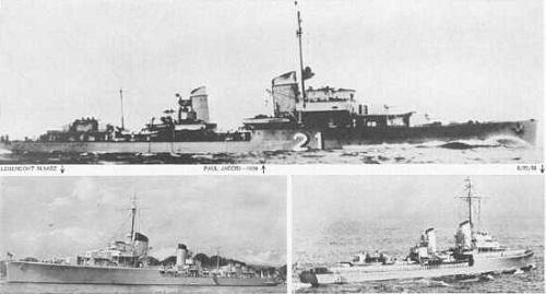 Các tàu khu trục Đức trên sông Dogger. Ảnh: Histoty.