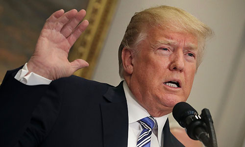 Tổng thống Mỹ Trump. Ảnh: AFP.