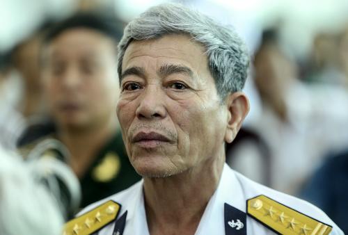 Đại tá Hoàng Duy Lập nói sự kiện Gạc Ma là đỉnh điểm của chiến dịch mà Trung Quốc đã toan tính từ trước. Ảnh: Nguyễn Đông.