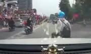 Nữ Ninja Việt sang đường kiểu tự sát