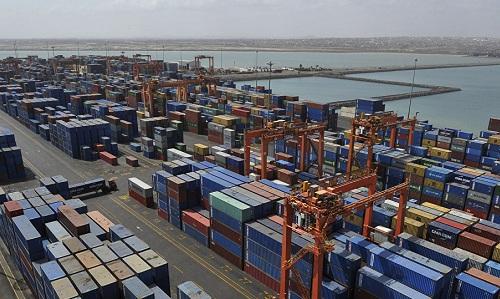 Cảng container Doaleh của Djibouti. Ảnh: AFP.