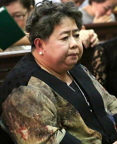 Bà Phấn tại tòa trong phiên xử Phạm Công Danh năm 2015. Ảnh: CTV.