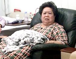 Bà Phấn tại bệnh viện ở quận 7 sau khi bị khởi tố. Ảnh: CTV.