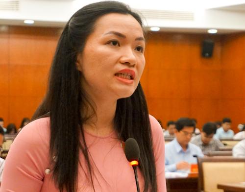 Đại biểu Võ Thị Ngọc Thúy. Ảnh: Tuyết Nguyễn.