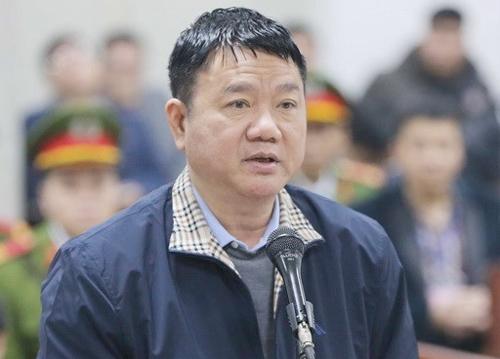 Ông Đinh La Thăng ở phiên tòa hồi tháng 1/2018. Ảnh: TTXVN.