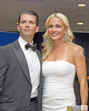 Vợ chồng Donald Jr. và Vanessa Trump. Ảnh: Metro