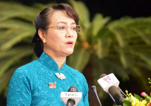 Chủ tịch HĐND TP HCM Nguyễn Thị Quyết Tâm. Ảnh: Hữu Công.