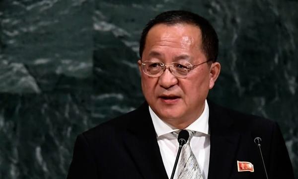 Ngoại trưởng Triều Tiên Ri Yong-ho. Ảnh: AFP.