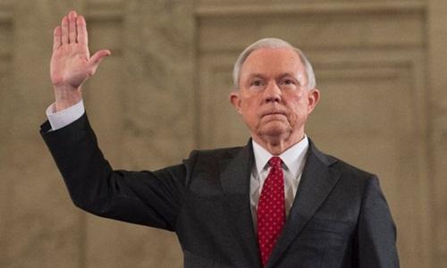 Bộ trưởng Tư pháp Jeff Sessions. Ảnh: AFP.