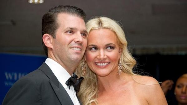 Donald Trump Jr. cùng vợ Vanessa Trump. Ảnh: AP.