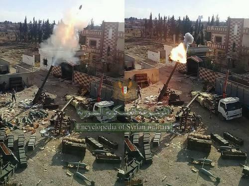 Pháo M-240 khai hỏa tại khu vực Đông Ghouta. Ảnh: Sputnik.