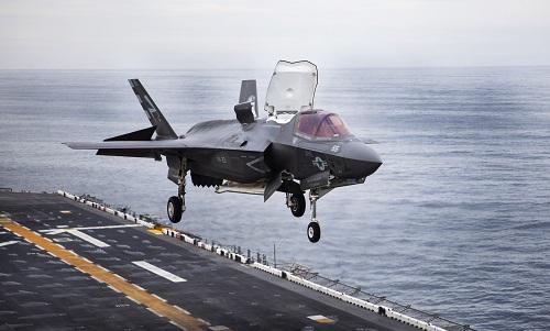 Mẫu tiêm kích F-35B của hải quân Mỹ. Ảnh: US Navy.