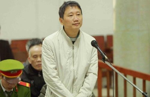 Bị cáo Trịnh Xuân Thanh tại phiên sơ thẩm vụ án thứ hai. Ảnh: TTXVN.