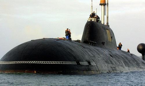 Một tàu ngầm tấn công hạt nhânShchuka-B. Ảnh: Sputnik