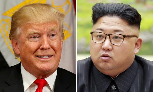 Tổng thống Mỹ Donald Trump và nhà lãnh đạo Triều Tiên Kim Jong-un. Ảnh: Reuters.