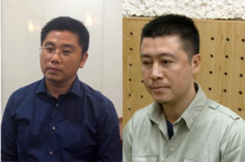 Dương và Nam tại cơ quan điều tra.
